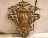 Vintage Beautifully Cast Metal Coat of Arms Wall Hanging