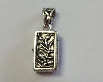 Sterling Silver Small Prayer Box Charm Pendant