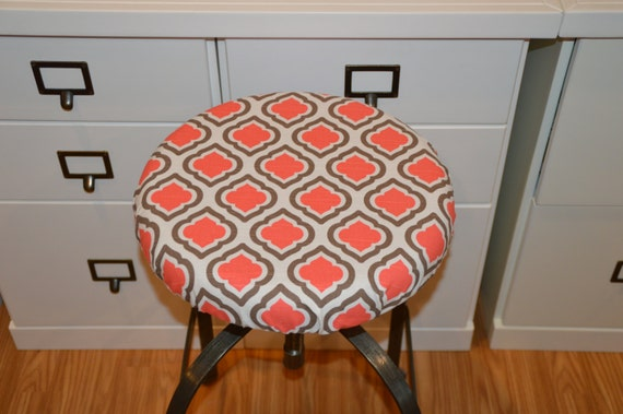 Items Similar To Elasticized Round Barstool Cover Seat