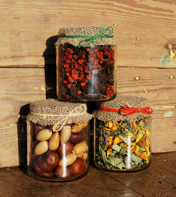 Items similar to glass jar decor set thanksgiving fall for Kitchen jar decoration
