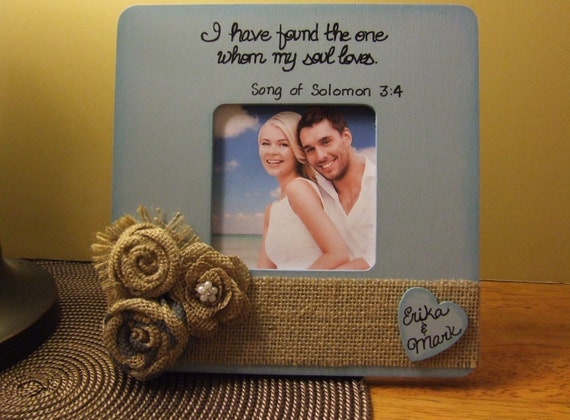 rustic wedding frame frames with quotes family couples gift blue and natural frame anniversary gift frames