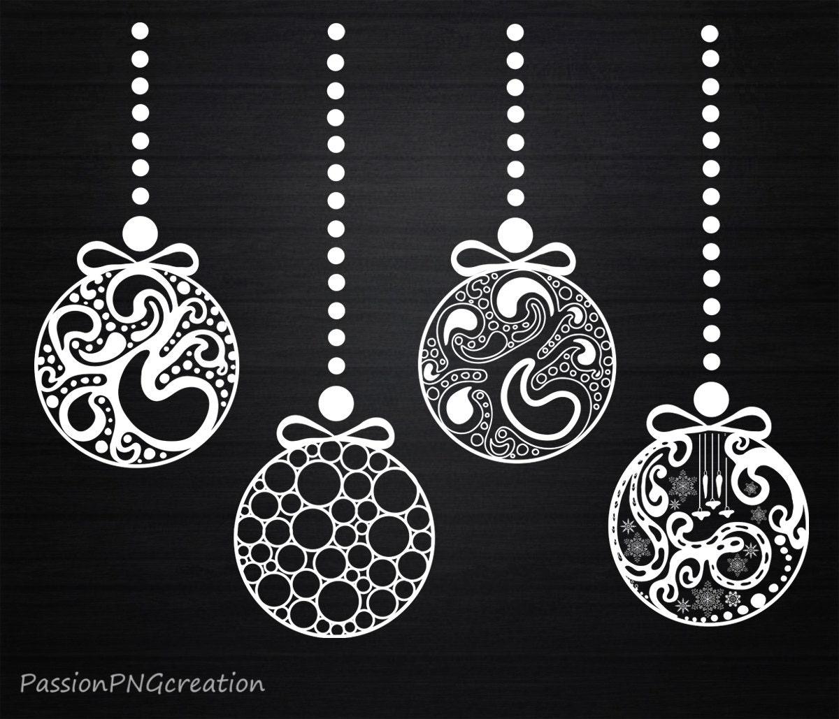 Christmas Ornaments clipart Decorations Xmas Vintage