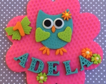 "5"" Owl Fondant Cake Topper and Cupcake Toppers"