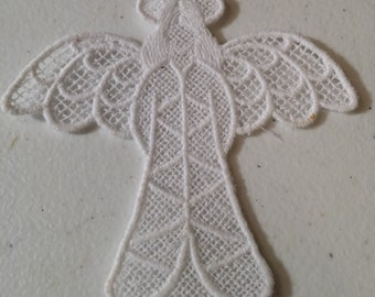 Free Standing Lace Angel Ornament.