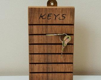 Key Rack Holder Solid Oak - Key Holder- Key Hanger - Key Hook