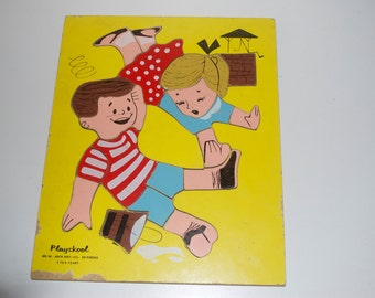 Playskool Jack and Jill Wooden Wood Pre-School Puzzle