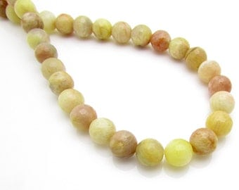 8mm, Yellow Sunstone Faceted Bead, 1 Strand