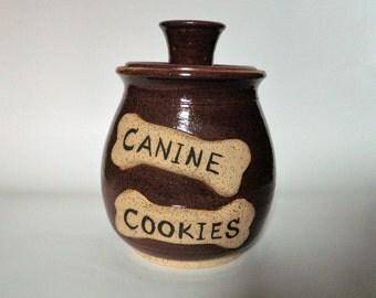 Brown Canine Cookie Jar