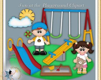 Playground Clipart, Summer Fun