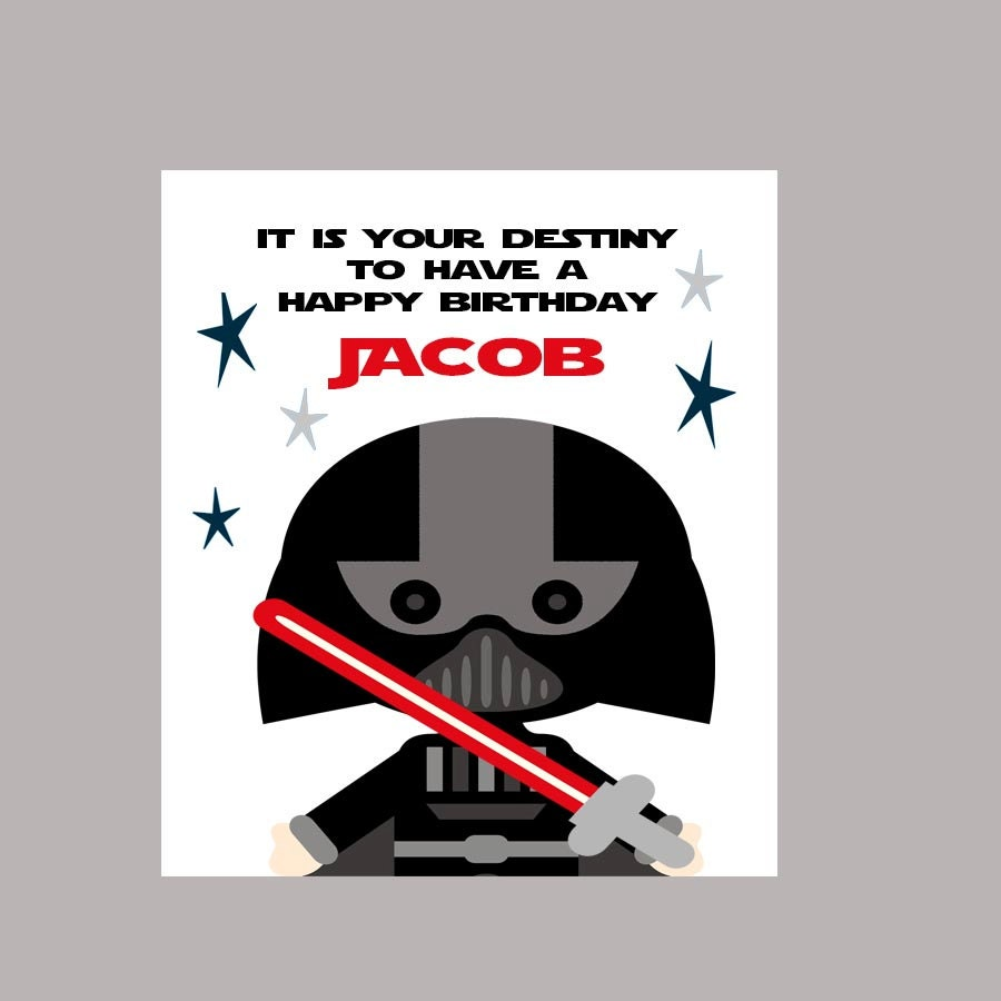 Darth Vader Birthday Card Template images