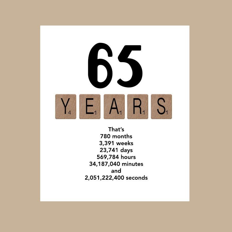 65th Birthday Card Masculine Birthday Card Card for Him | 900 x 900 jpeg 51kB