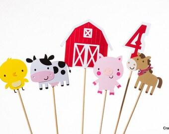 Farm party Centerpiece Sticks, Barnyard party, Cowboy Party, Western Party, Cowgirl birthday, Farm Birthday, Cowgirl party, Farm animals