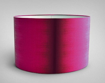 Ikat Drum Lampshade - Pink Ikat - By Ptolemy Mann