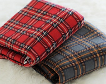 Neoprene Fabric Check in 2 Colors By The Yard