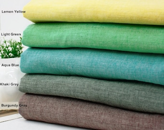 Gauze Fabric in 5 Pastel Colors By The Yard