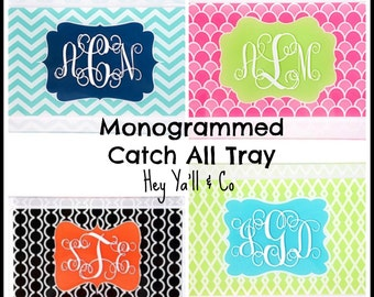 Monogrammed Catch-All Tray