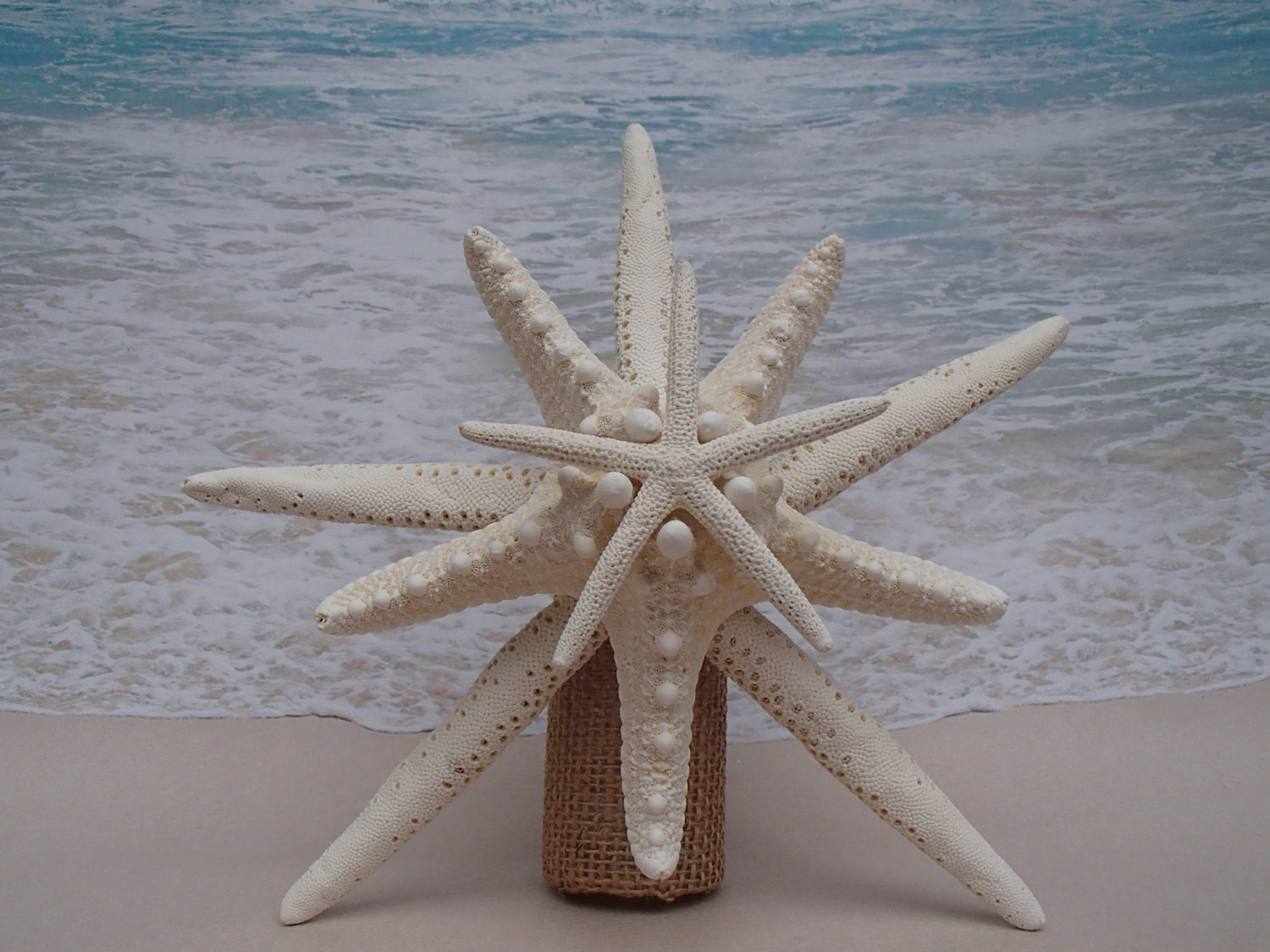 Starfish Tree Topper Natural Gold or Silver by ParadiseBridal