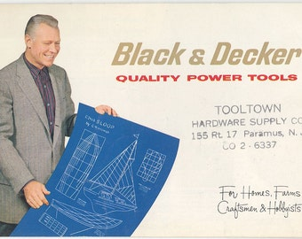 Black & Decker 'Quality Power Tools-For Homes, Farms, Craftsmen,Hobbyists' Color Brochure -1960s -
