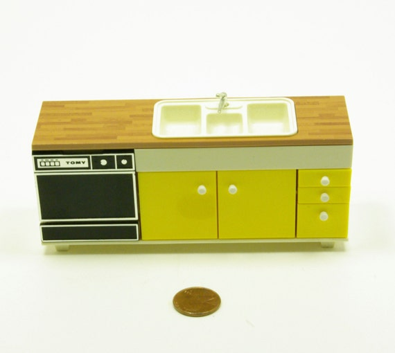 Vintage Tomy Smaller Home And Gardens Kitchen Double Sink