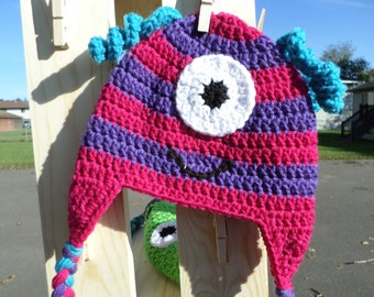 One Eyed Pink and Purple Monster