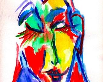 watercolor wall art, watercolor art print, watercolor fine art, watercolor poster, modern watercolor, abstract watercolor