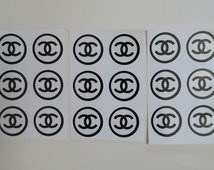 6 stickers (1 sheet) - CHANEL Sticker Label Gift Wrapping Scrapbooking Packaging
