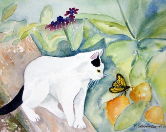 Polly is an archival matted print from an original watercolor painting.
