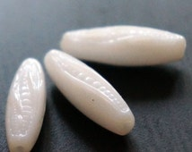Opaque White Czech Corn Beads Czech Glass Corn Beads Glass Vegetable Beads White Maize Glass Beads White Czech Vegetable Beads 19mm 10pcs