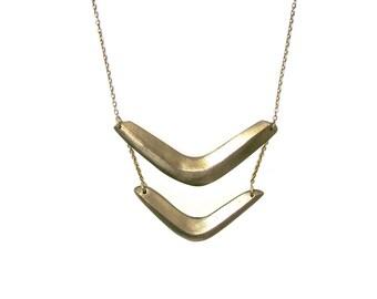 Double Boomerang Necklace