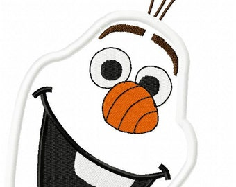 Olaf face etsy frozen snowman face embroidery design download 2 sizes 5x7 and 6x10 hoop sizes pronofoot35fo Gallery