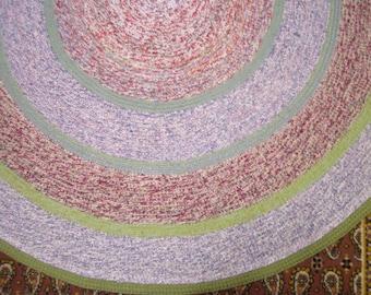 Large colored  Melange Round Crochet Rug Bedroom Rug Kitchen Rug Livingroom Rug