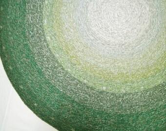 large Green Round Crochet Rug Bedroom Rug Kitchen Rug Livingroom Rug 5