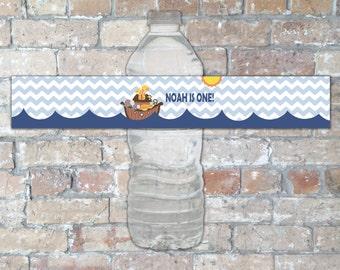 Noah's Ark Water Bottle Labels {Digital Item}