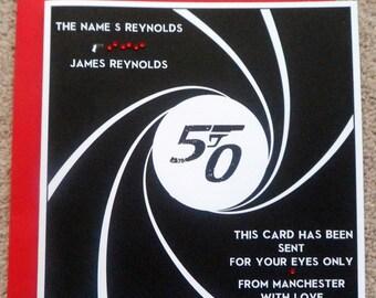 Handmade Personalised James Bond 007 Birthday Card Any Age