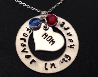 MOM/NANA/DAD Forever In My Heart Necklace