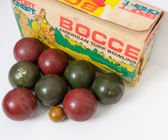 Vintage Bocce Ball Set Big Teenage Dicks