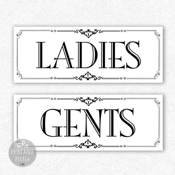 Bathroom Signs Printable Free: Restroom Printable Signs 2B // Bathroom Signs By