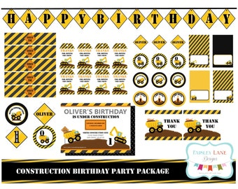 Under Construction Birthday Party Printable Package, Construction Birthday Party, Construction Birthday, Construction Vehicles, Construction