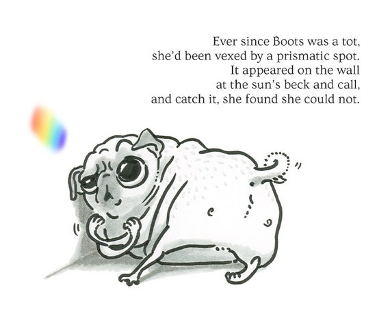 pug poems items similar to pug poetry boots spot pug poem art 3857