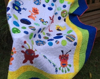 Little monsters quilt