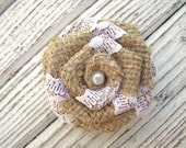 Rustic Burlap Flowers Set of 10 handmade fabric rosettes Cake topper Burlap roses Wedding decor Flower Ornaments. Bridal Wedding Party Favor