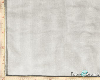 White Tricot Knit Lining Fabric 2 Way Stretch Polyester 6 Oz 108""