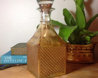 Gold Ombre Glass Decanter