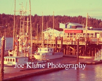 Pier at Old Town in Florence, OR. Oregon coast photography, Ocean decor, Boat decor,  Fine Art Print, 4X6,5X7,8X12,11X17, vintage, retro