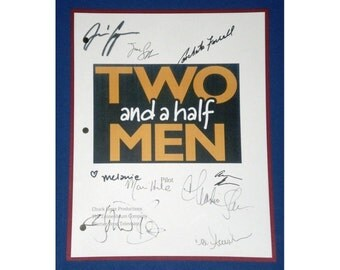 Two and a Half Men Pilot Episode TV Signed Script Autographed: Charlie Sheen, Jon Cryer, Angus T. Jones, Concheta Ferrell, Holland Taylor