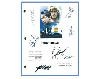 Point Break 1991 Movie Script Signed Screenplay Autographed: Patrick Swayze, Keanu Reeves, Gary Busey, Lori Petty, Tom Sizemore