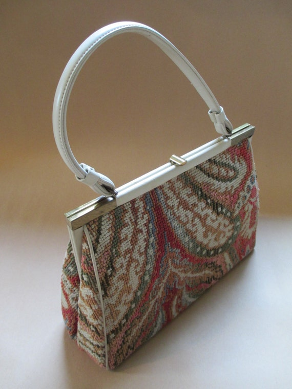 Purse Vintage Purse Tapestry Hand Bag Tapestry Purse L And