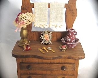 Primitive Decor Wood Miniature Furniture By Serendiptycrochet207