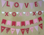 Set of 4 VALENTINES DAY banners