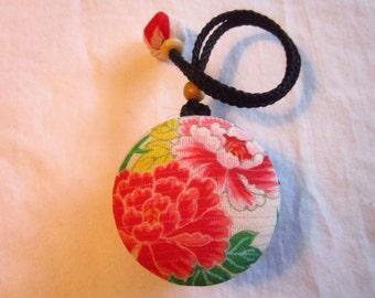 5cm Kimono Macaroon Case - made with vintage silk Japanese kimono fabric